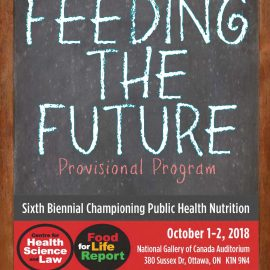 Provisional Program of Championing Public Health Nutrition